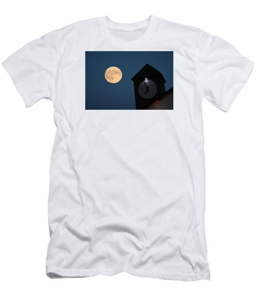 Moon And Clock Tower Men's T-Shirt (Athletic Fit)