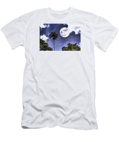 Moon Over Belize Two Men's T-Shirt (Slim Fit) by Ken Frischkorn