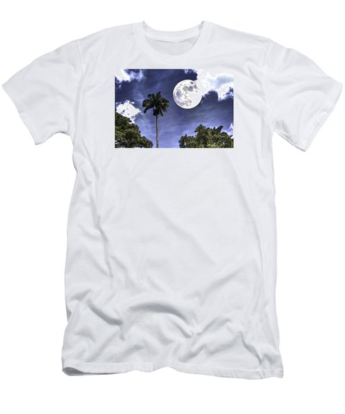 Moon Over Belize Two Men's T-Shirt (Slim Fit)