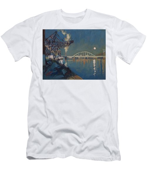 Moon Over The Railway Bridge Maastricht Men's T-Shirt (Athletic Fit)