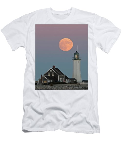 Moon Rise Over Scituate Men's T-Shirt (Slim Fit) by Stephen Flint