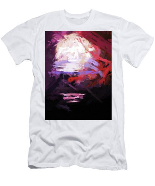 Moon Sky Pink Sea Men's T-Shirt (Athletic Fit)
