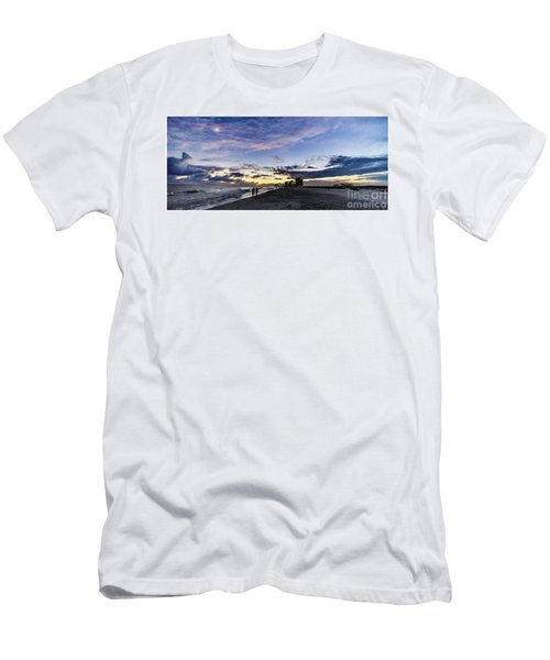 Moonlit Beach Sunset Seascape 0272b1 Men's T-Shirt (Athletic Fit)