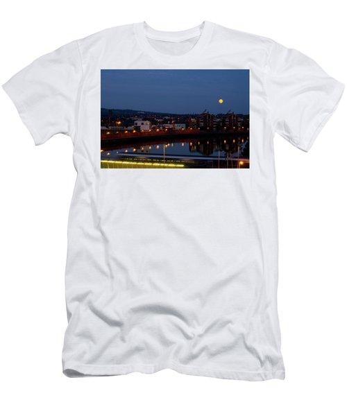 Moonrise In Belfast Men's T-Shirt (Athletic Fit)