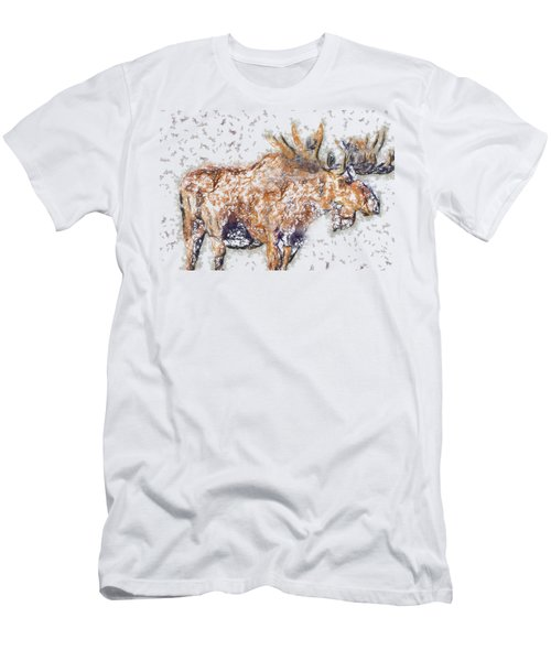 Moose-sticks Men's T-Shirt (Athletic Fit)