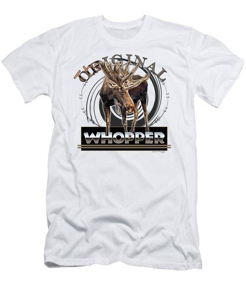 Moose Whooper Men's T-Shirt (Slim Fit) by Susan Kinney