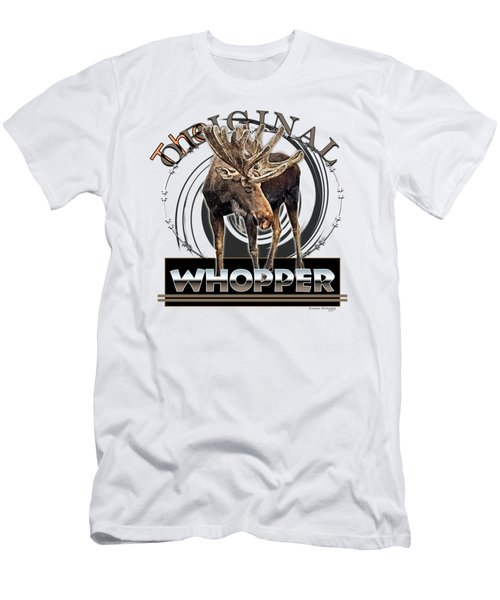 Moose Whooper Men's T-Shirt (Slim Fit)