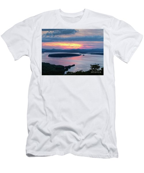 Mooselookmeguntic Lake In The Last Light Of Day - Rangeley Me  -63430 Men's T-Shirt (Athletic Fit)