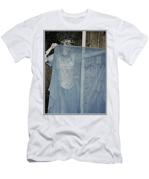 Men's T-Shirt (Athletic Fit) featuring the photograph More Peek-a-boo by Denise Fulmer