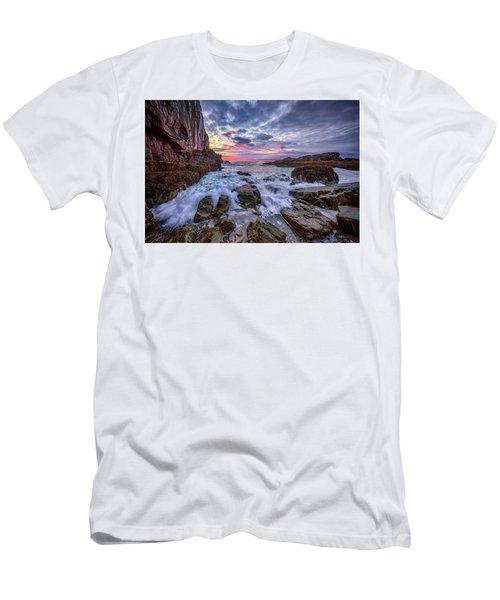 Morning At Bald Head Cliff Men's T-Shirt (Slim Fit) by Rick Berk