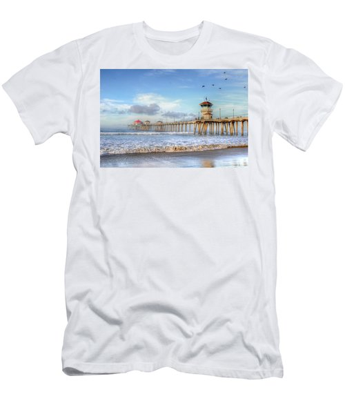 Morning Birds Over Pier Men's T-Shirt (Athletic Fit)