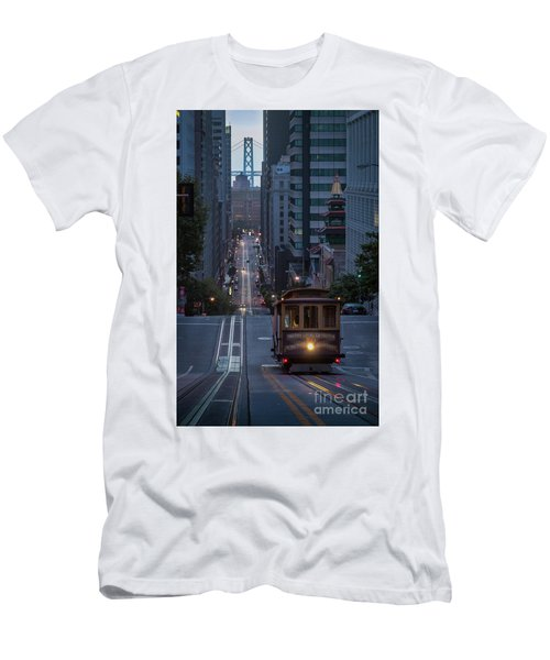 Morning Commute Men's T-Shirt (Slim Fit) by JR Photography