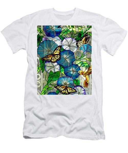 Morning Glory Men's T-Shirt (Slim Fit) by Diane E Berry
