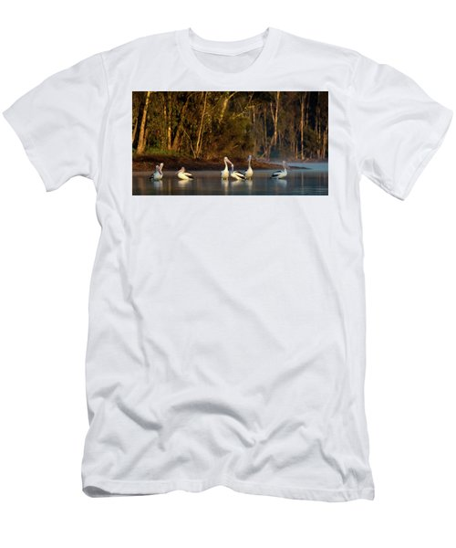Morning On The River Men's T-Shirt (Athletic Fit)