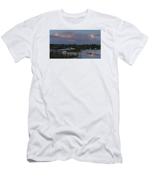 Morning Reflections Over The Wetlands Men's T-Shirt (Athletic Fit)