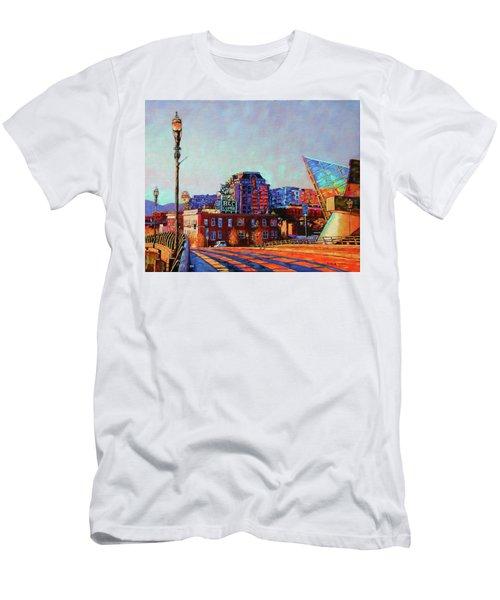 Morning Rush - The Corner Of Salem Avenue And Williamson Road In Roanoke Virginia Men's T-Shirt (Slim Fit) by Bonnie Mason