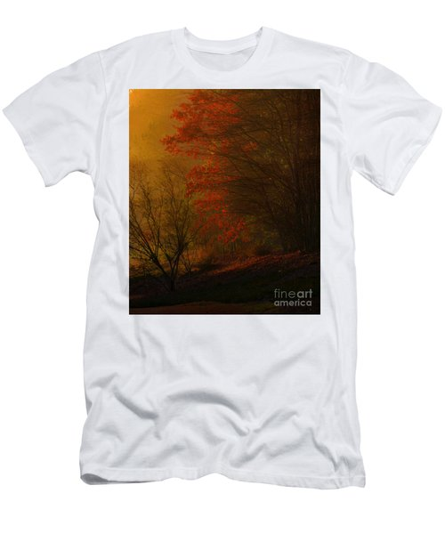 Morning Sunrise With Fog Touching The Tree Tops In Georgia. Men's T-Shirt (Athletic Fit)