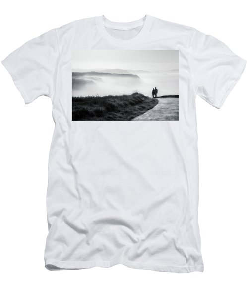 Morning Walk With Sea Mist Men's T-Shirt (Athletic Fit)