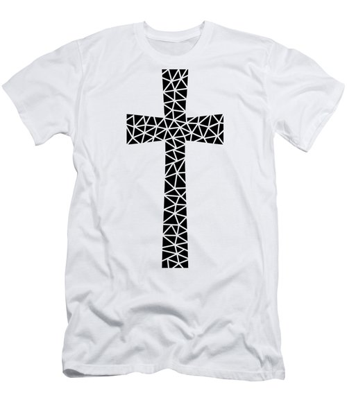 Men's T-Shirt (Athletic Fit) featuring the digital art Mosaic Cross  by Donna Mibus