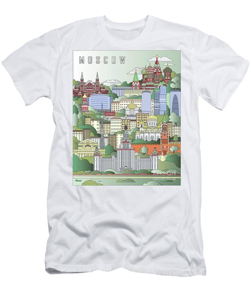 Moscow City Poster Men's T-Shirt (Athletic Fit)