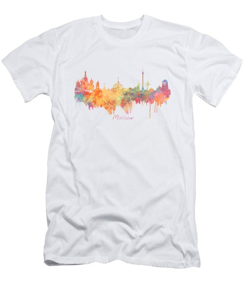 Moscow Russia Skyline City Men's T-Shirt (Slim Fit) by Justyna JBJart
