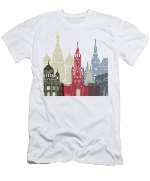 Moscow Skyline Poster Men's T-Shirt (Slim Fit) by Pablo Romero