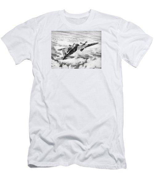 Mosquito Fighter Bomber Men's T-Shirt (Slim Fit) by Douglas Castleman