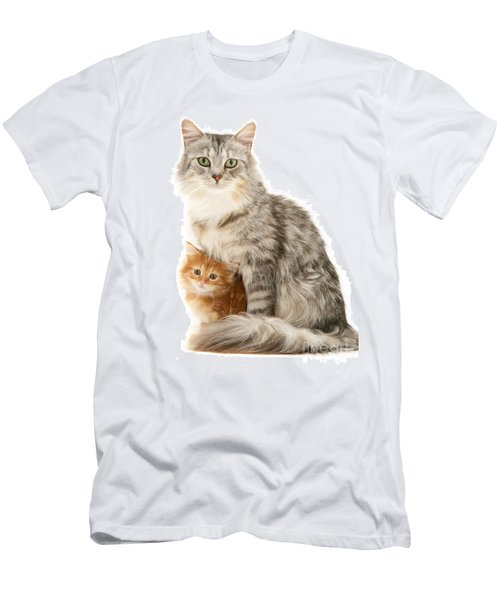 Mother Cat And Ginger Kitten Men's T-Shirt (Athletic Fit)