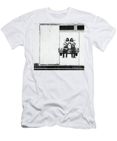 Double Trouble Men's T-Shirt (Slim Fit) by Joe Jake Pratt
