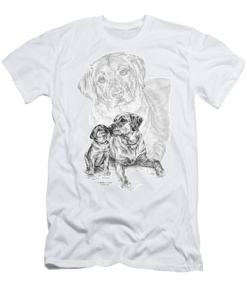 Mother Labrador Dog And Puppy Men's T-Shirt (Athletic Fit)