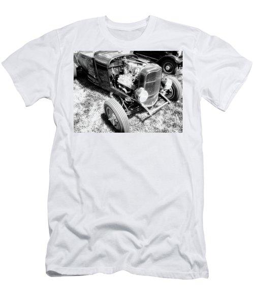 Motor Wheel Bw Men's T-Shirt (Athletic Fit)
