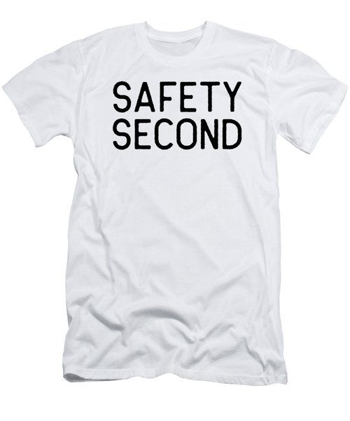 Motorcycle Riding Safety Second Black Biker Riders Gift Dark Men's T-Shirt (Athletic Fit)