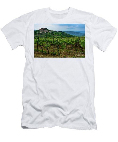 Motovun And Vineyards - Istrian Hill Town, Croatia Men's T-Shirt (Athletic Fit)