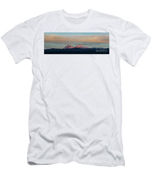 Mount Aragats, The Highest Mountain Of Armenia, At Sunset Under Beautiful Clouds Men's T-Shirt (Slim Fit) by Gurgen Bakhshetsyan