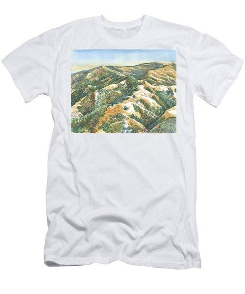 Mount Diablo, Round Top Viewpoint Men's T-Shirt (Athletic Fit)