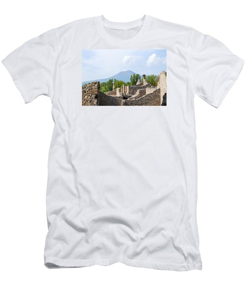 Mount Vesuvius Beyond The Ruins Of Pompei Men's T-Shirt (Athletic Fit)