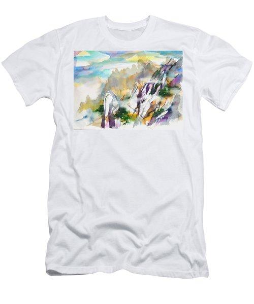 Mountain Awe #2 Men's T-Shirt (Athletic Fit)