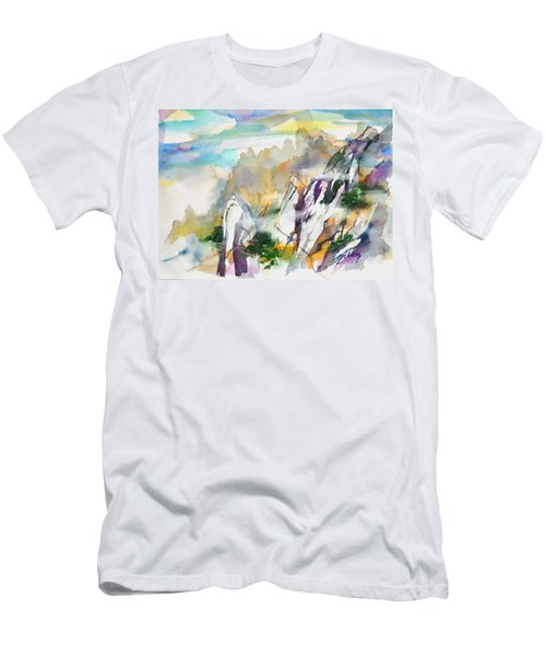 Mountain Awe #2 Men's T-Shirt (Athletic Fit)