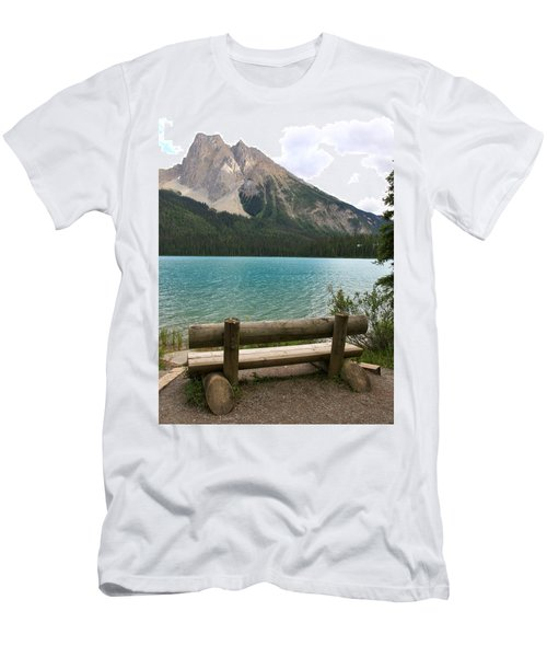 Mountain Calm Men's T-Shirt (Slim Fit) by Catherine Alfidi