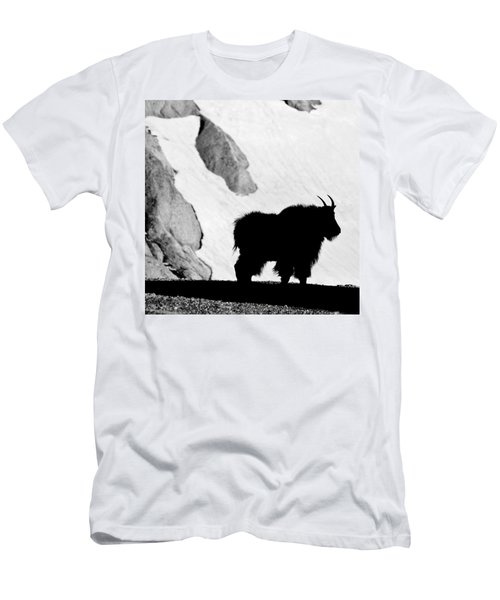 Mountain Goat Shadow Men's T-Shirt (Slim Fit) by Colleen Coccia