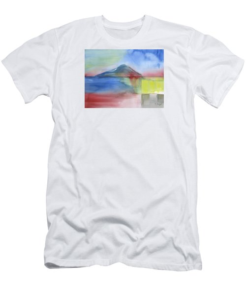 Men's T-Shirt (Slim Fit) featuring the painting Just Before The Rain by Frank Bright