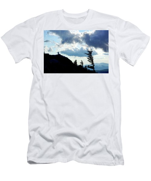 Mountain Peak Silhouette Men's T-Shirt (Athletic Fit)
