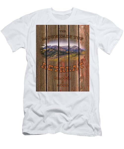 Mountain Top Retreat Men's T-Shirt (Athletic Fit)