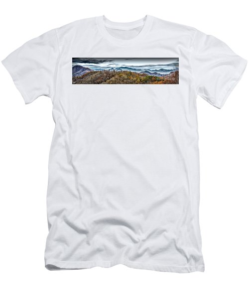 Men's T-Shirt (Slim Fit) featuring the photograph Mountains 2 by Walt Foegelle