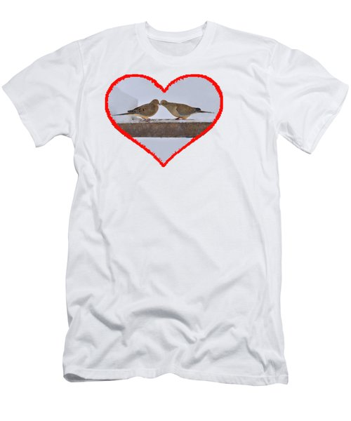 Mourning Doves Kissing Men's T-Shirt (Slim Fit) by Dan Friend