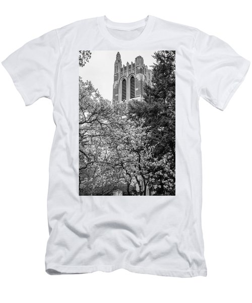 Msu Beaumont Tower Black And White 3 Men's T-Shirt (Athletic Fit)