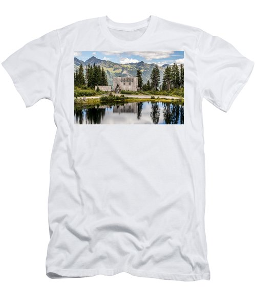 Mt Baker Lodge In Picture Lake 1 Men's T-Shirt (Athletic Fit)