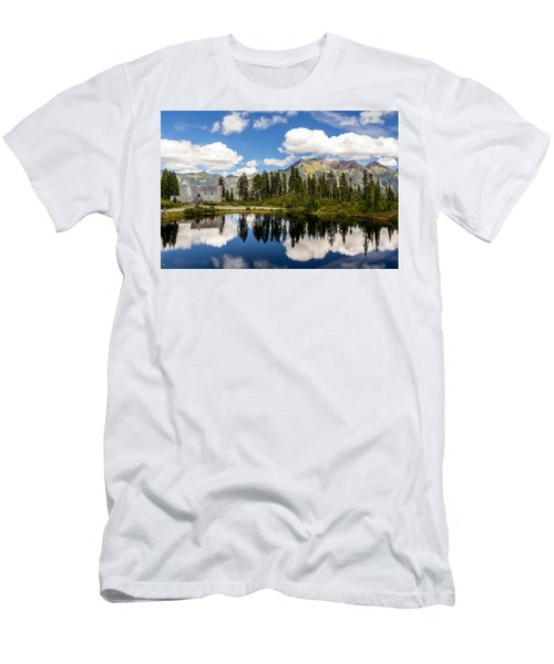 Mt Baker Lodge Reflection In Picture Lake 2 Men's T-Shirt (Athletic Fit)