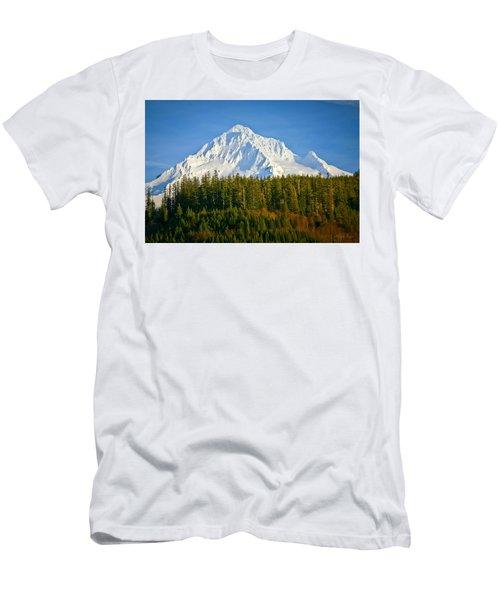 Mt Hood In Winter Men's T-Shirt (Athletic Fit)