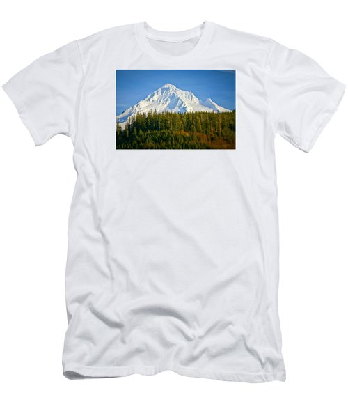 Mt Hood In Winter Men's T-Shirt (Athletic Fit)
